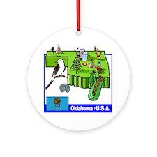 Oklahoma Map Ornament (Round)