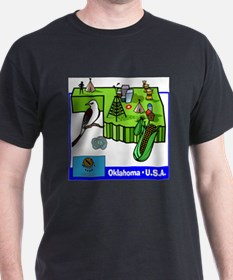 Oklahoma Map T-Shirt