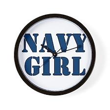Navy Girl Wall Clock