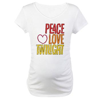 Peace Love Twilight Maternity T-Shirt