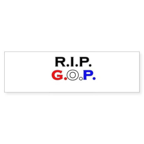 RIP GOP Bumper Sticker