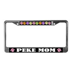 Cute Peke Mom License Plate Frame