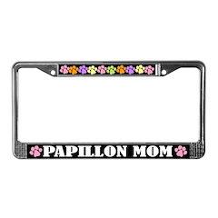 Cute Papillon Mom Dog License Plate Frame
