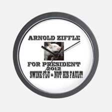 Arnold Ziffle for president 2 Wall Clock