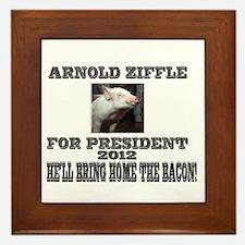 Arnold Ziffle for president 2 Framed Tile