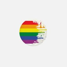 GLBT Flag (Blank) Mini Button (10 pack)
