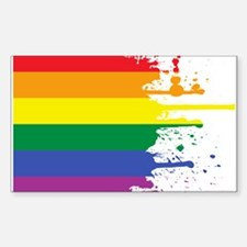 GLBT Flag (Blank) Rectangle Decal