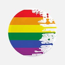 """GLBT Flag (Blank) 3.5"""" Button"""