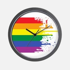 GLBT Flag (Blank) Wall Clock
