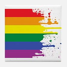 GLBT Flag (Blank) Tile Coaster