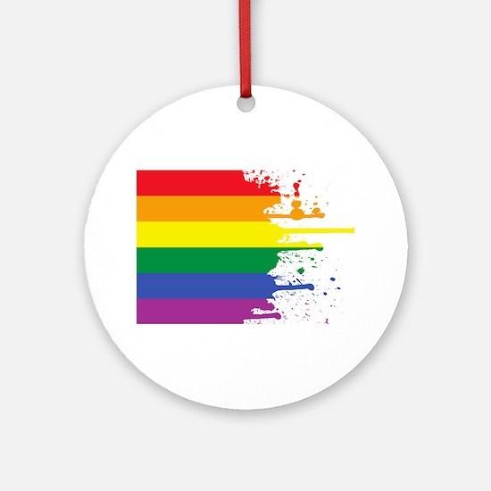 GLBT Flag (Blank) Ornament (Round)