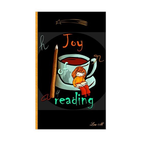 """Joy of reading"" Rectangle Sticker"