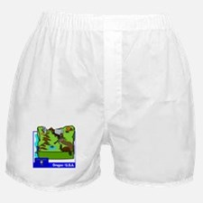 Oregon Map Boxer Shorts