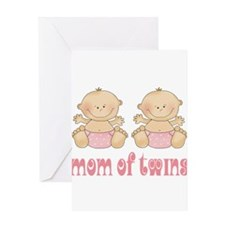 Mom Of Twin Girls Greeting Card