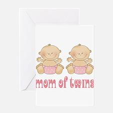 Mom Of Twin Girls Greeting Card
