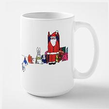 Fuzzy Santa Mug