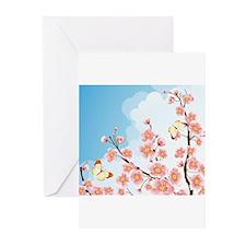 Cherry Blossom Sakura Greeting Cards (Pk of 10)