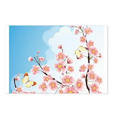 Cherry Blossom Sakura Postcards (Package of 8)