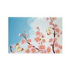 Cherry Blossom Sakura Rectangle Magnet