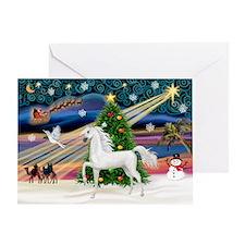 XmasMagic/Arabian Horse (W) Greeting Card