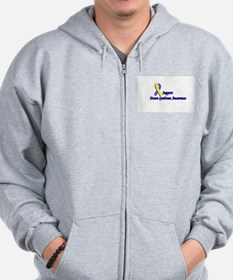 Funny Down syndrome Zip Hoodie