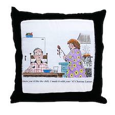 WineToons Throw Pillow