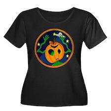 Alien Jack O Lantern Women's Plus Size Scoop Neck