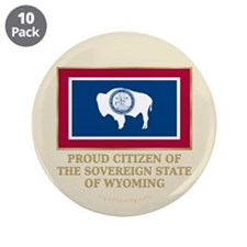 "Wyoming Proud Citizen 3.5"" Button (10 pack)"