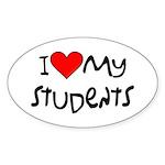 My Students: Oval Sticker (10 pk)