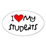My Students: Oval Sticker