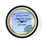 Penny Saved Wall Clock