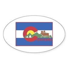 Colorado Flag Oval Decal