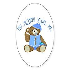 Baby Boy TeddyBear Oval Decal