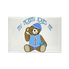 Baby Boy TeddyBear Rectangle Magnet
