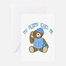 Baby Boy TeddyBear Greeting Cards (Pk of 10)