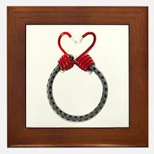 Bungee Heart Framed Tile