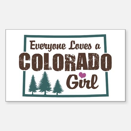 Colorado Girl Rectangle Decal