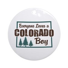 Colorado Boy Ornament (Round)