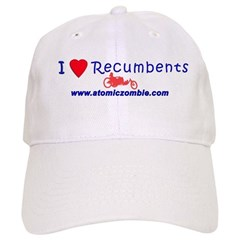 I Love Recumbents Baseball Cap