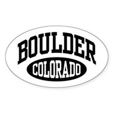 Boulder Colorado Oval Decal