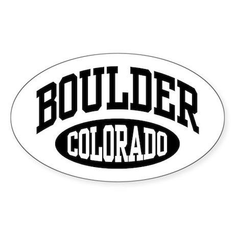 Boulder Colorado Oval Sticker