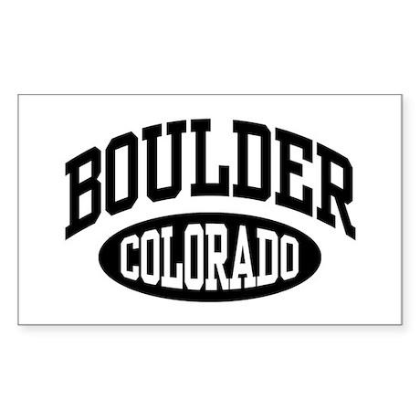 Boulder Colorado Rectangle Sticker