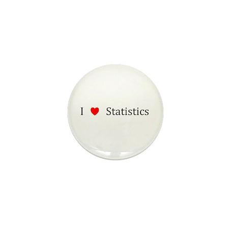 I Heart Statistics Mini Button