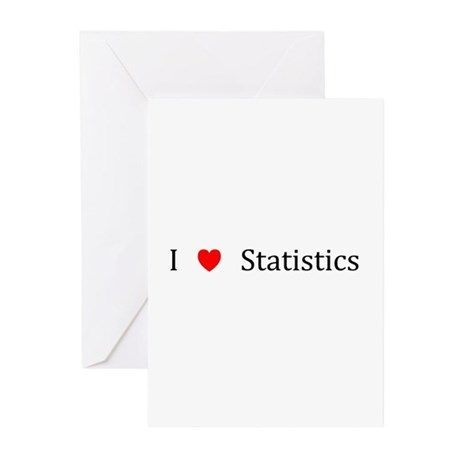 I Heart Statistics Greeting Cards (Pk of 10)