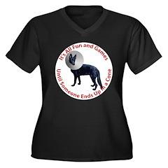 Cone Women's Plus Size V-Neck Dark T-Shirt