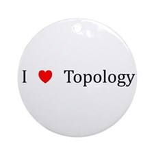 I Heart Topology Ornament (Round)