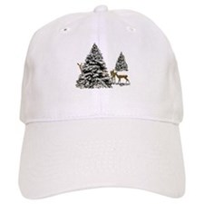 DEER AND CHRISTMAS TREES Baseball Cap