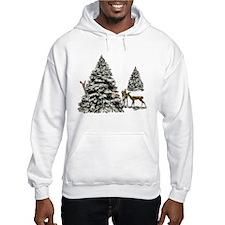 DEER AND CHRISTMAS TREES Hoodie