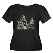 DEER AND CHRISTMAS TREES T