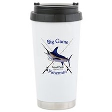 Striped Marlin Travel Mug